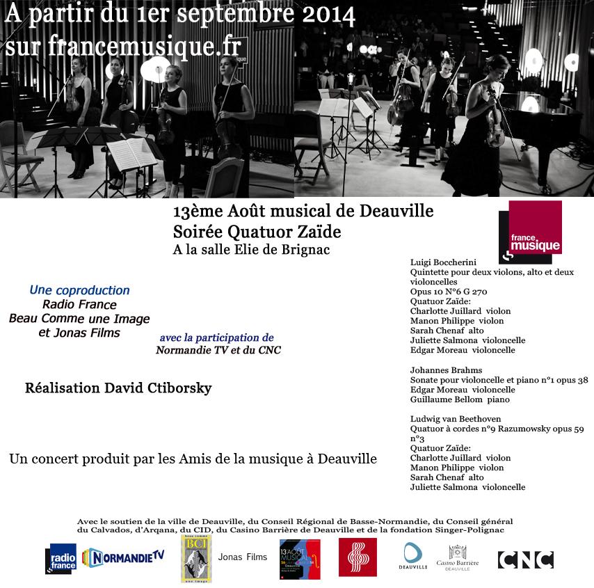 Concert du 1er août sur France Musique